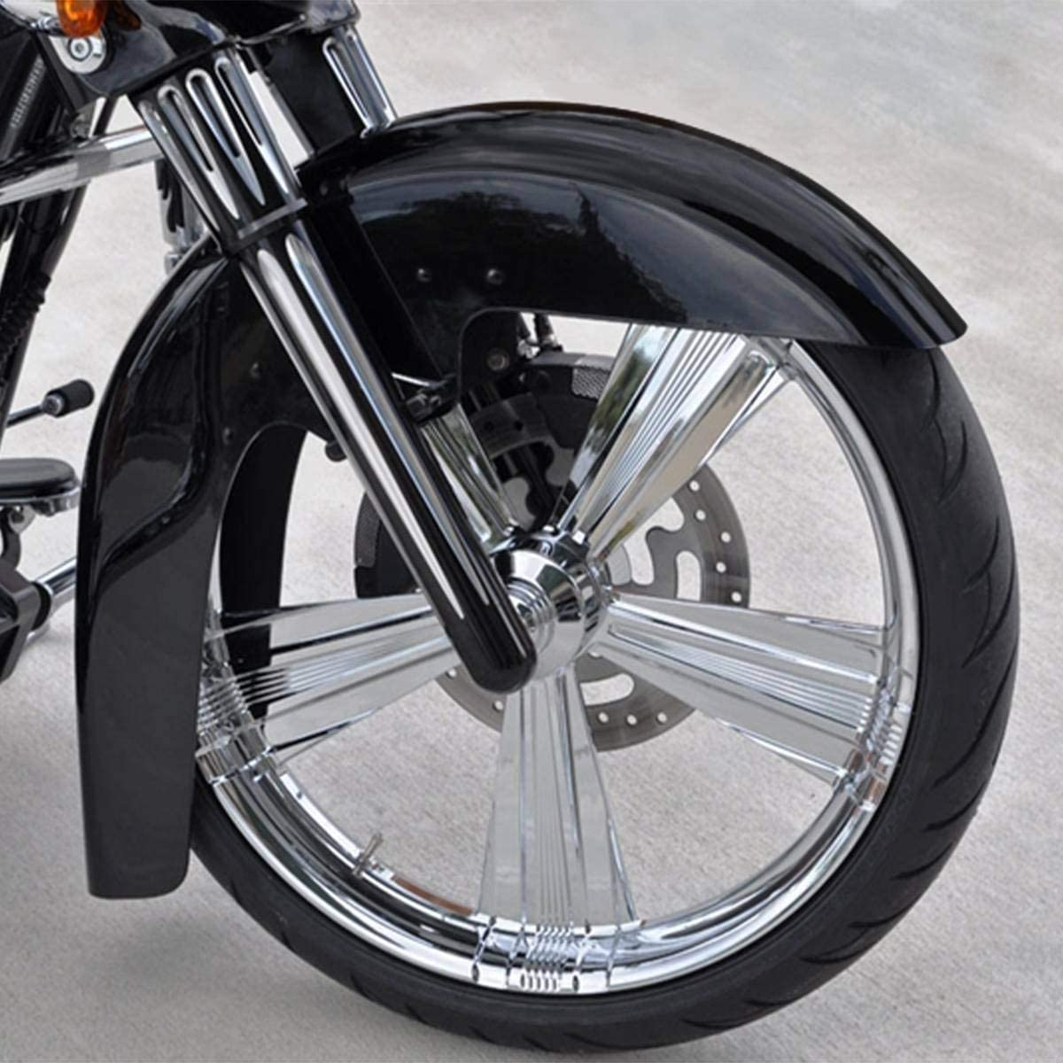 TCMT Unpainted Iron Front Fender Fit For Harley Touring Street Road Glide 1989-2013