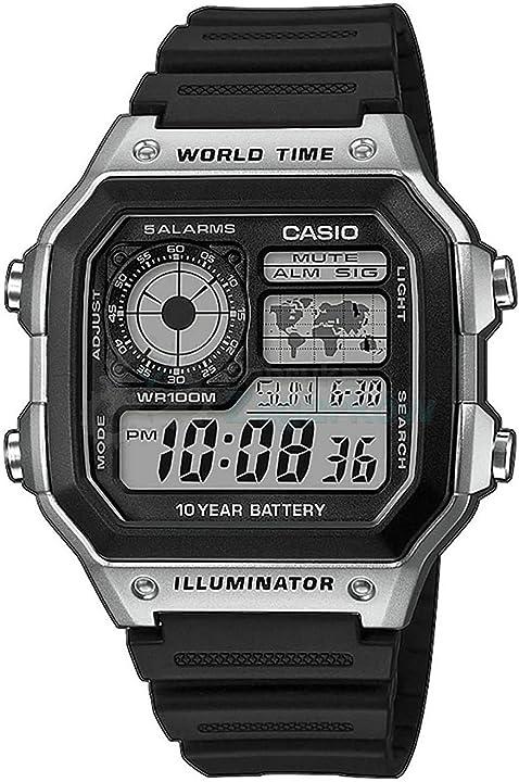 Casio illuminator orologio. ae-1200wh-1cvef