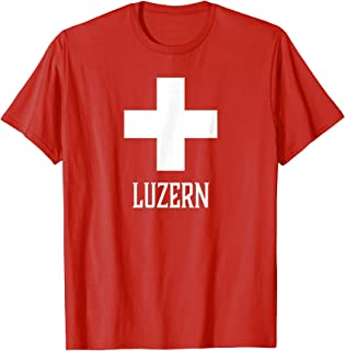 Luzern, Switzerland - Swiss, Suisse Cross T-shirt