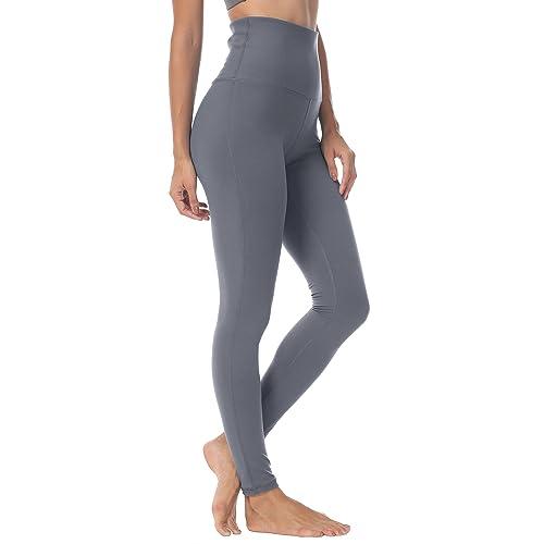 QUEENIEKE Women Yoga Legging Power Flex High Waist Running Pants Workout  Tights 77a856b5b1ef