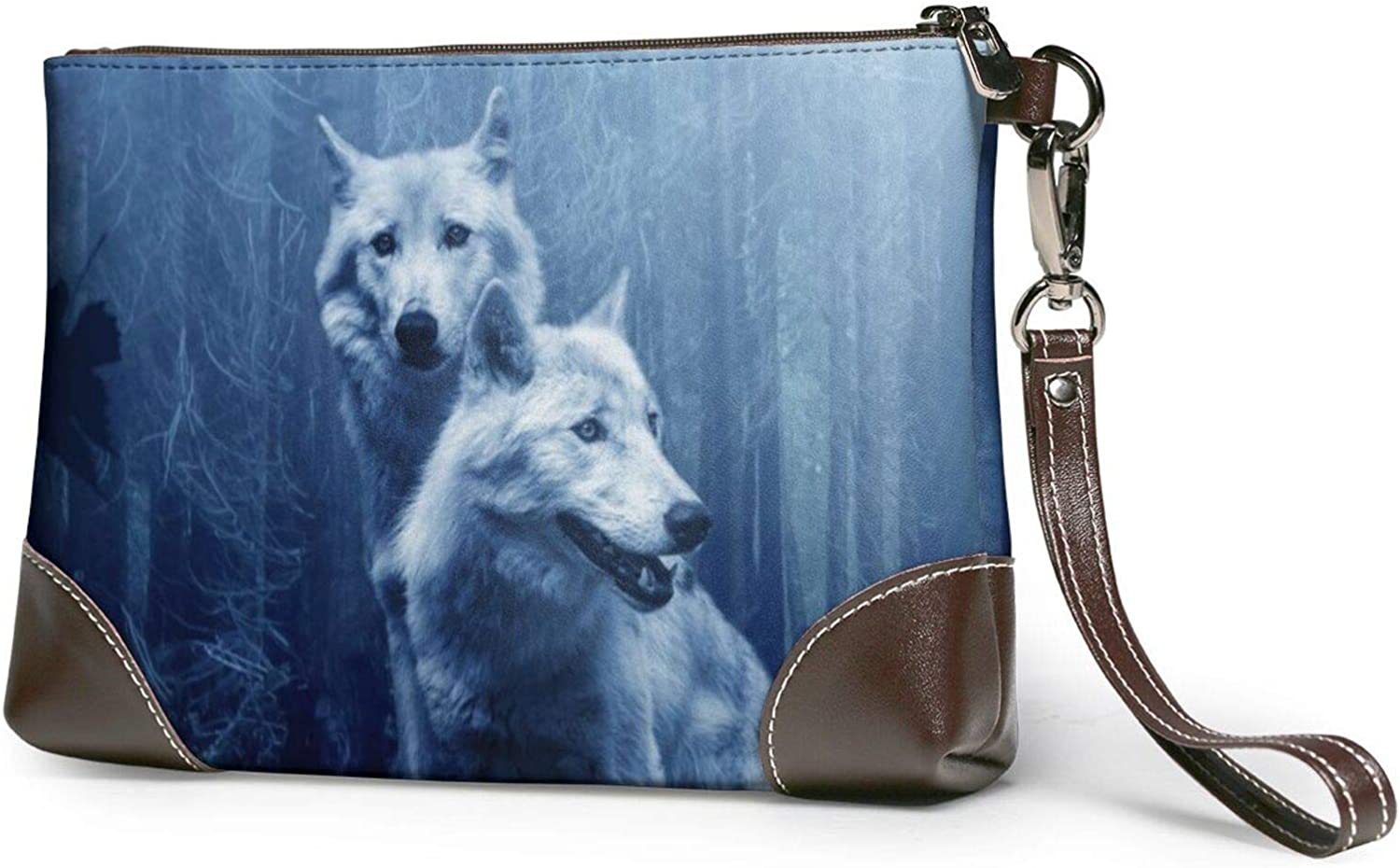 Wolf In Forest Ranking Max 60% OFF TOP15 Clutch Purses Leather Wallet Purs Wristlet