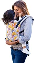 Baby Tula Multi-Position, Ergonomic Baby Carrier, Front and Back Carry for 15 – 45 pounds – Shenandoah (Gray, Pink, and Mustard Yellow Trees)