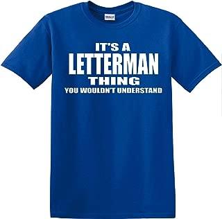 Gildan Letterman Thing Royal Blue T Shirt