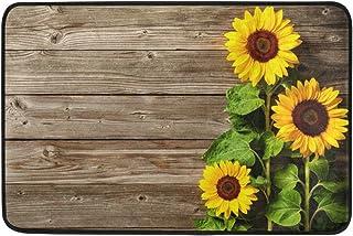 Baofu Sunflower Doormats Colorful Funny Floor Mat Lightweight Non-Slip Area Rugs Entrance Front Door Rug Thanksgiving Chri...