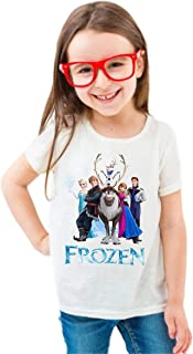 FMstyles - Disney Frozen White Kids Unisex Tshirt - FMS635-7-8 Years