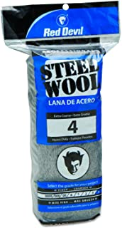 Red Devil 0317 Steel Wool, 4 Extra Coarse, (Pack of 16)