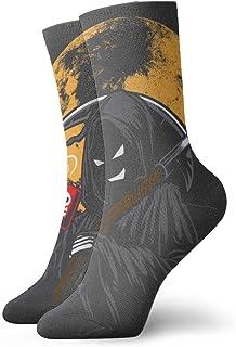 Hunter qiang, Fondo para vectores de café venenoso, para calcetines, caricaturas, sonrisas y bebidas. Calcetines deportivos de 30 cm.