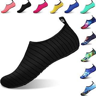 comprar comparacion Aqua Shoes Escarpines Hombres Mujer Niños Zapatos de Agua Zapatillas Ligeros de Secado Rápido para Swim Beach Surf Yoga