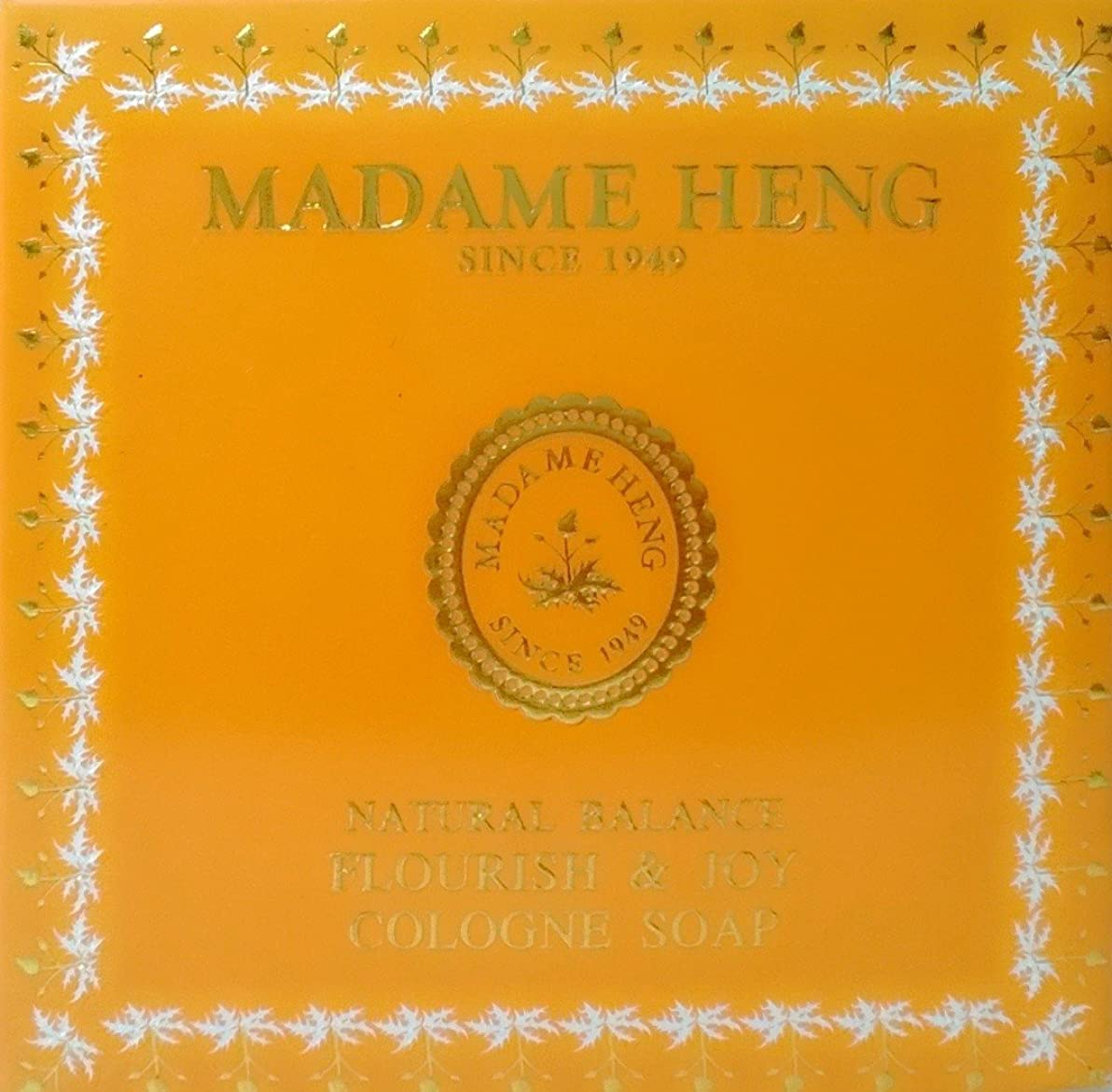 強調打ち負かす協力するMADAME HENG NATURAL BALANCE FLOURISH & JOY COLOGNE SOAP