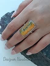 Multi Color Bumble Bee Jasper Ring, Handmade Jewelry, Natural Bumble Bee Jasper Ring, Solid 925 Sterling Silver Ring, Wedding Gift Ring, Women's Ring, Rectangle Gemstone Ring