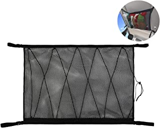 Pexmmy SUV Ceiling Cargo Net PocketCar Net Ceiling Storage Netting Pocket Double Layer High Elastic Simple Breathable Mesh...
