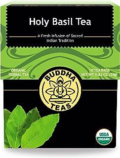 Buddha Teas Organic Holy Basil Tulsi Tea | 18 Bleach-Free Tea Bags | Anxiety and Stress Relief | Sleep Aid | Antioxidant |...