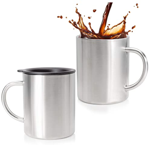 Double Hotcold Coffee Oz 14 Insulated Stainless Mugs Y7yf6gvb