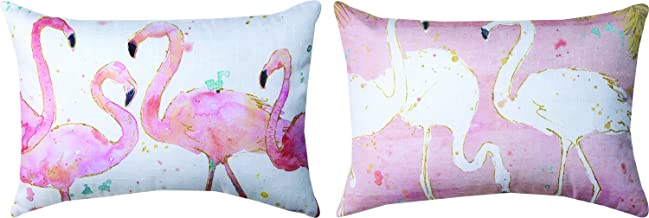 Flamingo Fever Dyed 18 x 13 Inch Decorative Pillow