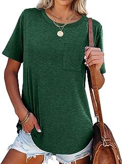 Womens Tshirts Short Sleeve Summer Tops Plain T Shirts...
