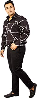 Xmex Plus Size Men's Cotton Big Checkered Full Sleeves Shirt. Can Also wear as Clubwear and Occasion wear
