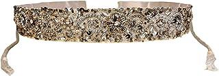 Duchess Silver Beaded Designer Tasselled Cloth Waist Saree Belt and Kamarbandh for Women