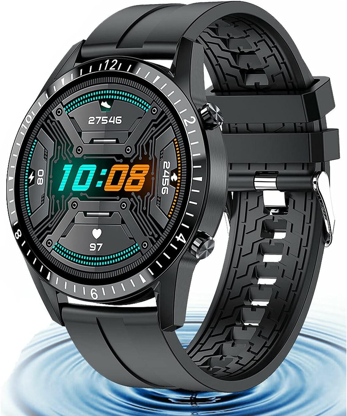 LUMAN Black Waterproof Smart Watch Blood Pressure R Nippon regular agency Oxygen Heart Gorgeous