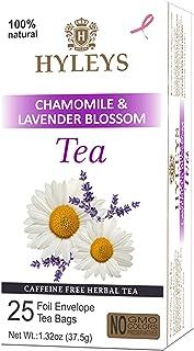 Hyleys Sleep Lavender Blossom Herbal Tea - 25 Tea Bags (Caffeine Free, Gmo Free, Gluten Free, Dairy Free, Sugar Free & 100...