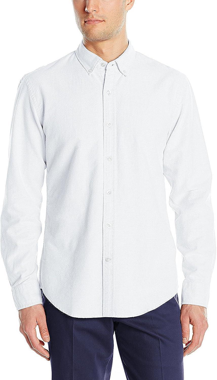 Memphis Mall TOPORUS Mens Oxford Columbus Mall Shirt Long Sleeve Dress Color Solid Fit Slim