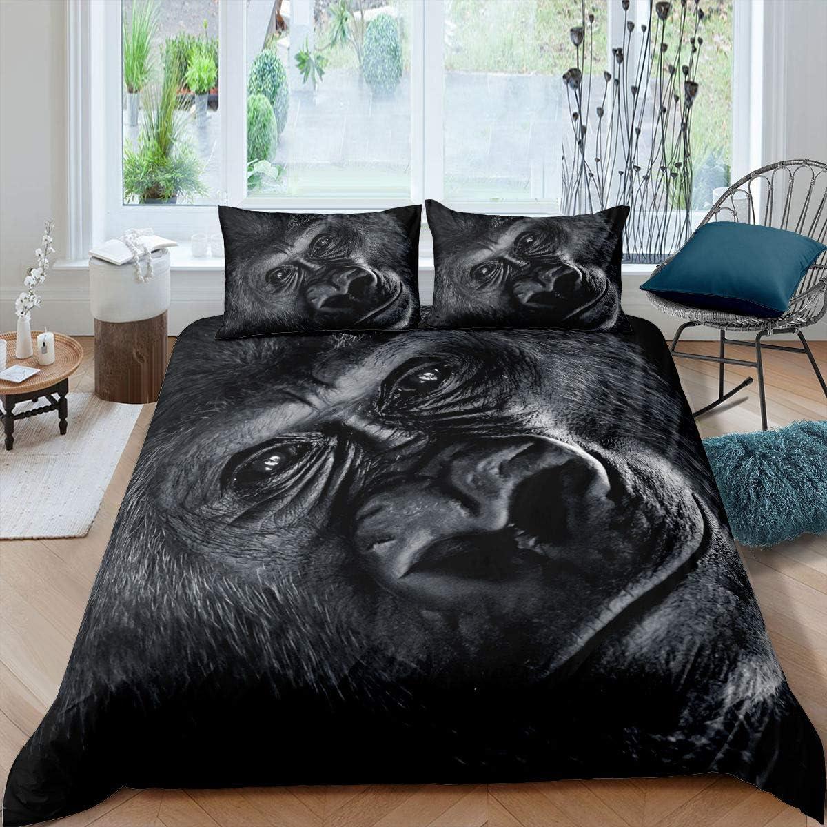 Orangutan Max 45% OFF Duvet Cover Outlet SALE Bohemian Monkey Set For Ki Printed Bedding