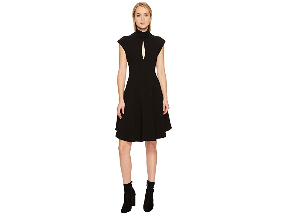 Neil Barrett Light Crepe Str. Cap Sleeve Dress (Black) Women