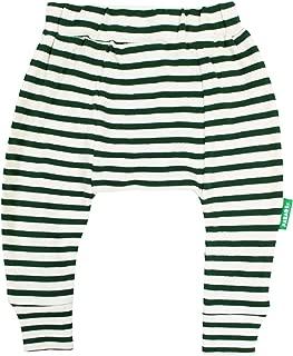PARADE ORGANICS Harem Pants - Signature Prints Breton Stripe Hunter Green 2T