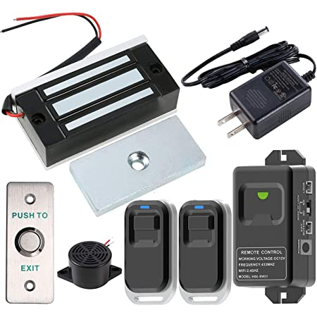 Access Control Outswinging Door Electric Magnetic 180KG Lock Kit Remote Control