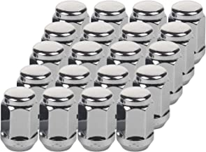 HanAuto Chrome Platin Closed End Lug Nuts (1/2x20 Thread Size) - Pack of 20 Wheel Lug Nuts,1935127C20