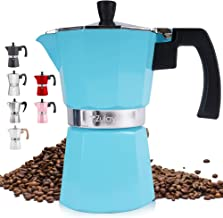Zulay Classic Stovetop Espresso Maker for Great Flavored Strong Espresso, Classic Italian Style 5.5 Espresso Cup Moka Pot,...
