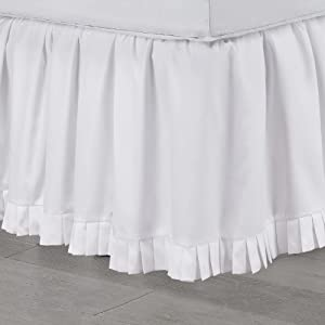 Martex Microruffle Queen White Bed Skirt