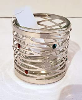 Yankee Candle New Metal Christmas Lights Votive Candle Holder and Glass Insert