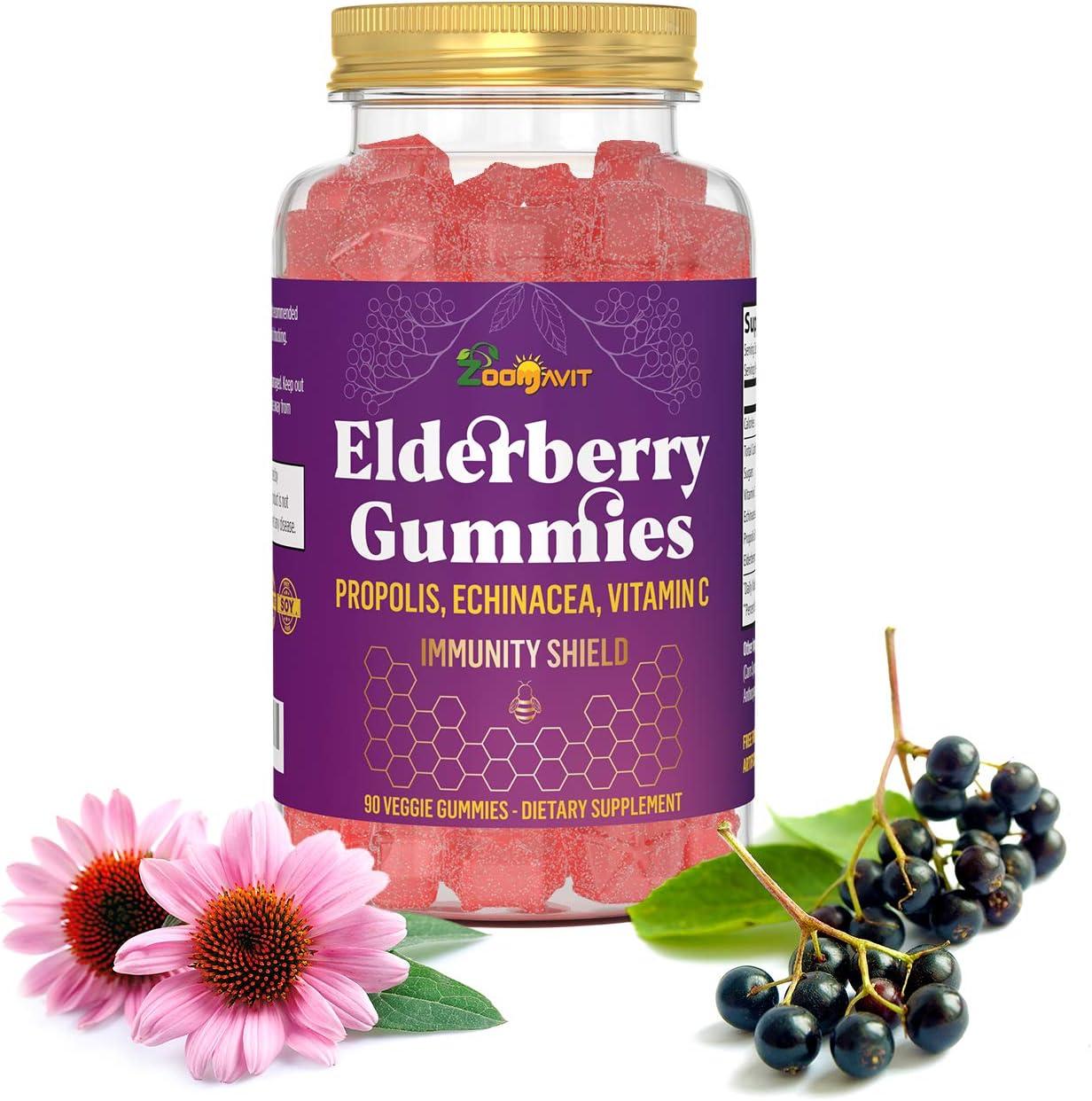 Elderberry Cash special price Gummies Fees free with Vitamin C Echinacea - Immune Propolis
