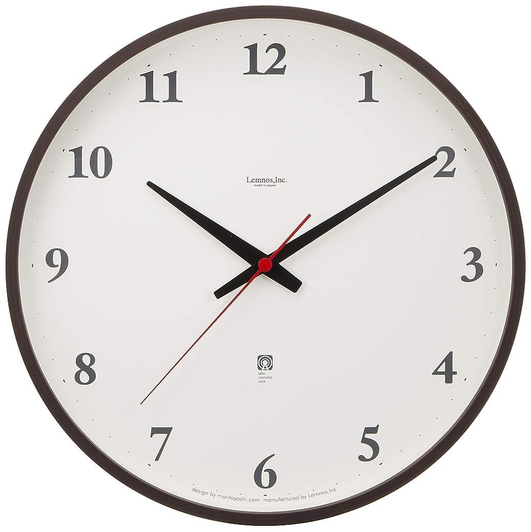 どこかジャンクコカインLemnos Plywood clock 電波時計 ブラウン LC05-01W BW