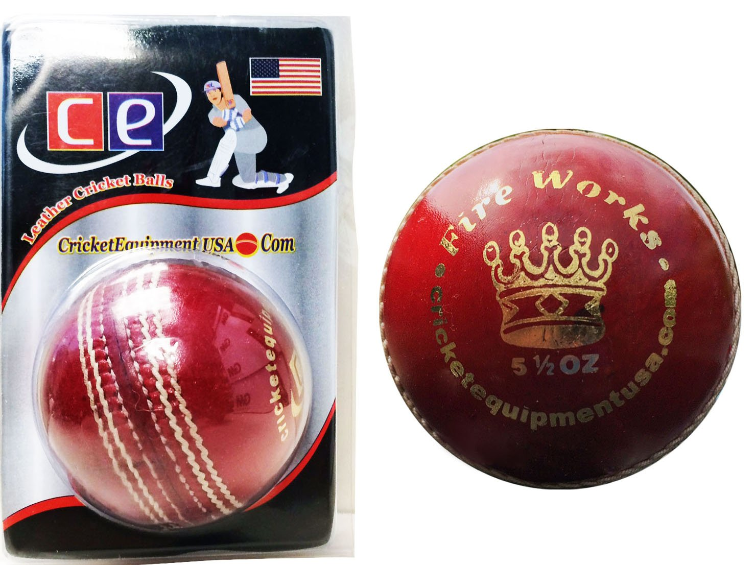 Pelota de cricket de cuero rojo fuegos artificiales por Cricket ...