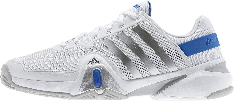 Adidas Men's Adipower Barricade 8 Tennis shoes-Running White Metallic Silver B.