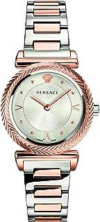 Versace V- Motif Quartz Silver Dial Ladies Watch VERE00718