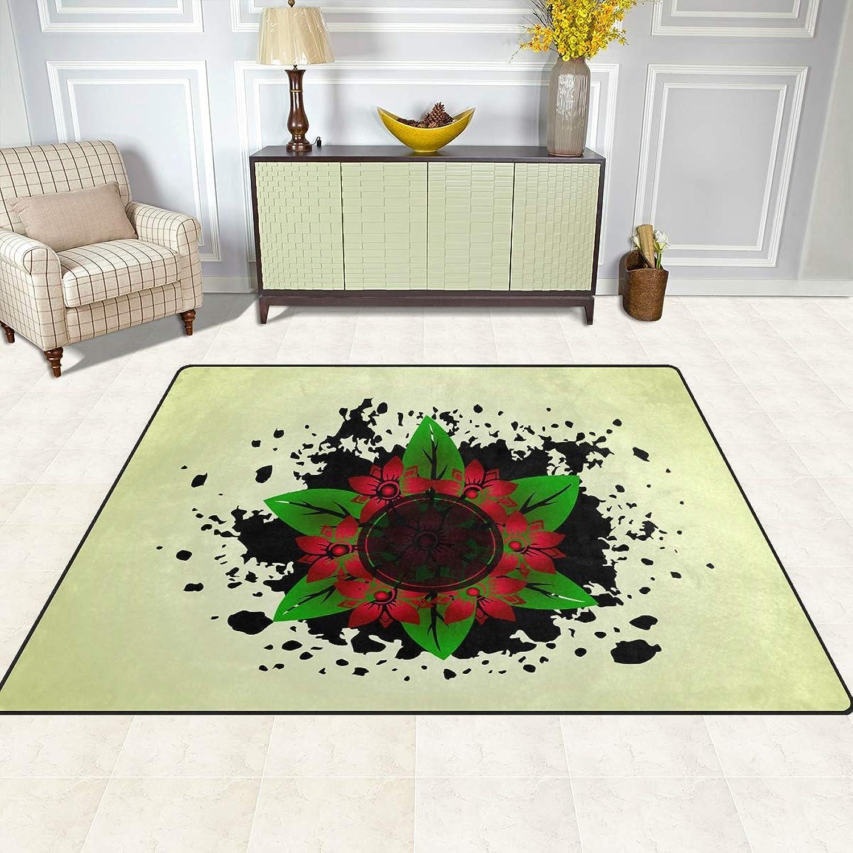 FAJRO Splatter Flowers Rugs for entryway Doormat Area Rug Multipattern Door Mat shoes Scraper Home Dec Anti-Slip Indoor Outdoor