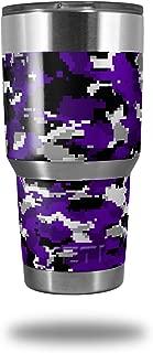 Skin Decal Wrap for Yeti Tumbler Rambler 30 oz WraptorCamo Digital Camo Purple (TUMBLER NOT INCLUDED)
