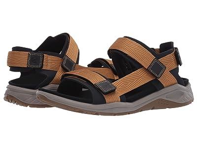 ECCO Sport X-Trinsic Textile Strap Sandal (Black/Cayote) Men