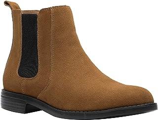 JINBEILE Homme Bottes et Boots Chelsea & Chukka Noir Cuir Chaussures