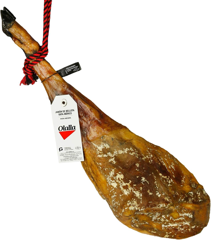 Jamon Iberico de Bellota 100% Reserva Pata Negra - Embutidos Ibericos de Bellota Patanegra - Pieza Tradicional Completa (7.5 - 8 kg)