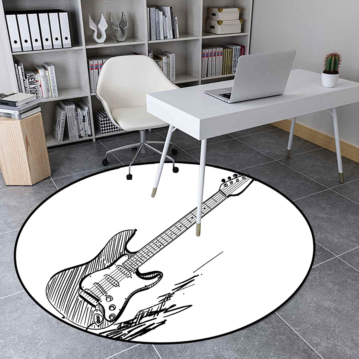 Round Rugs Ranking TOP17 3.9 Ft Soft Floor Mat Home Drawn Decor Style Hand Max 85% OFF El