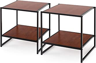 Zinus Modern Studio Collection Set of Two Bedside Tables | Night Stands Furniture | Side Tables
