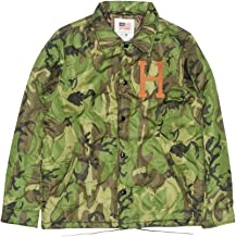 HUF Quilted Coaches Camo Jacket Green