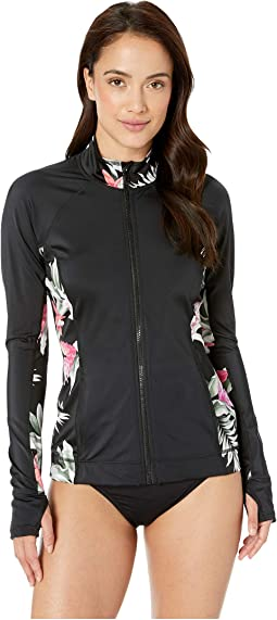Active Zip Front Waterproof Rashguard
