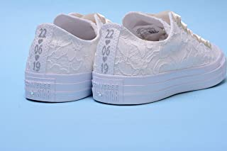 ab2f4b152ff2 Personalized Ivory Wedding Sneakers For Bride