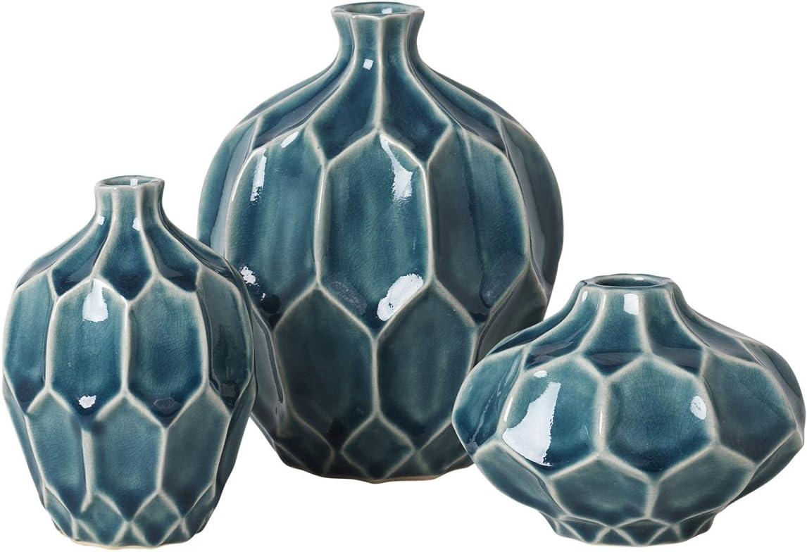 Vase Dekovase 20er Set AMALFI Keramikvase Deep Blue Broste ...