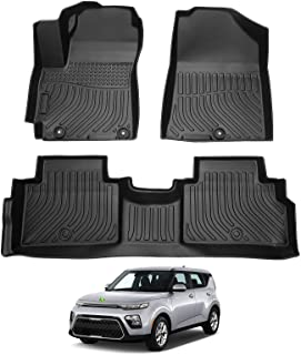 Cartist Floor Mats for Soul All Weather Floor Liners Compatible with 2020 2021 2022 Kia Soul TPE Odorless High Edge Mat