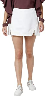 AZOLLA White Polyester Skirt for Women